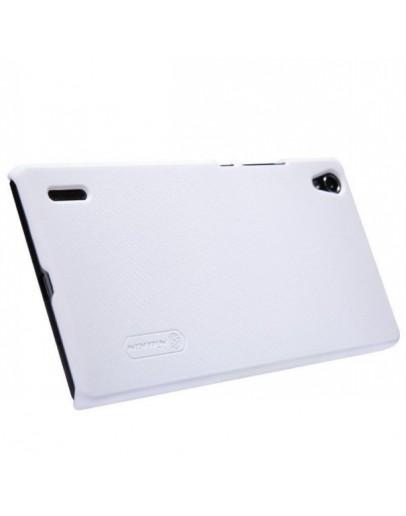 Carcasa protectie spate + folie ecran pentru  Huawei Ascend P7 - alba